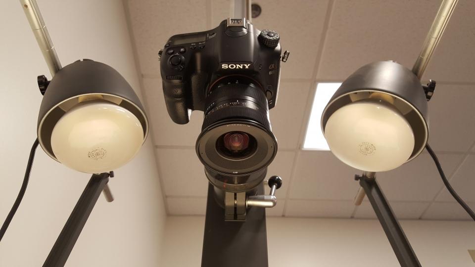 Camera and copystand