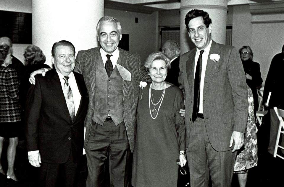 Robert H. Ahmanson, Lloyd E. Cotsen, Ernestine Elster, and Richard Leventhal