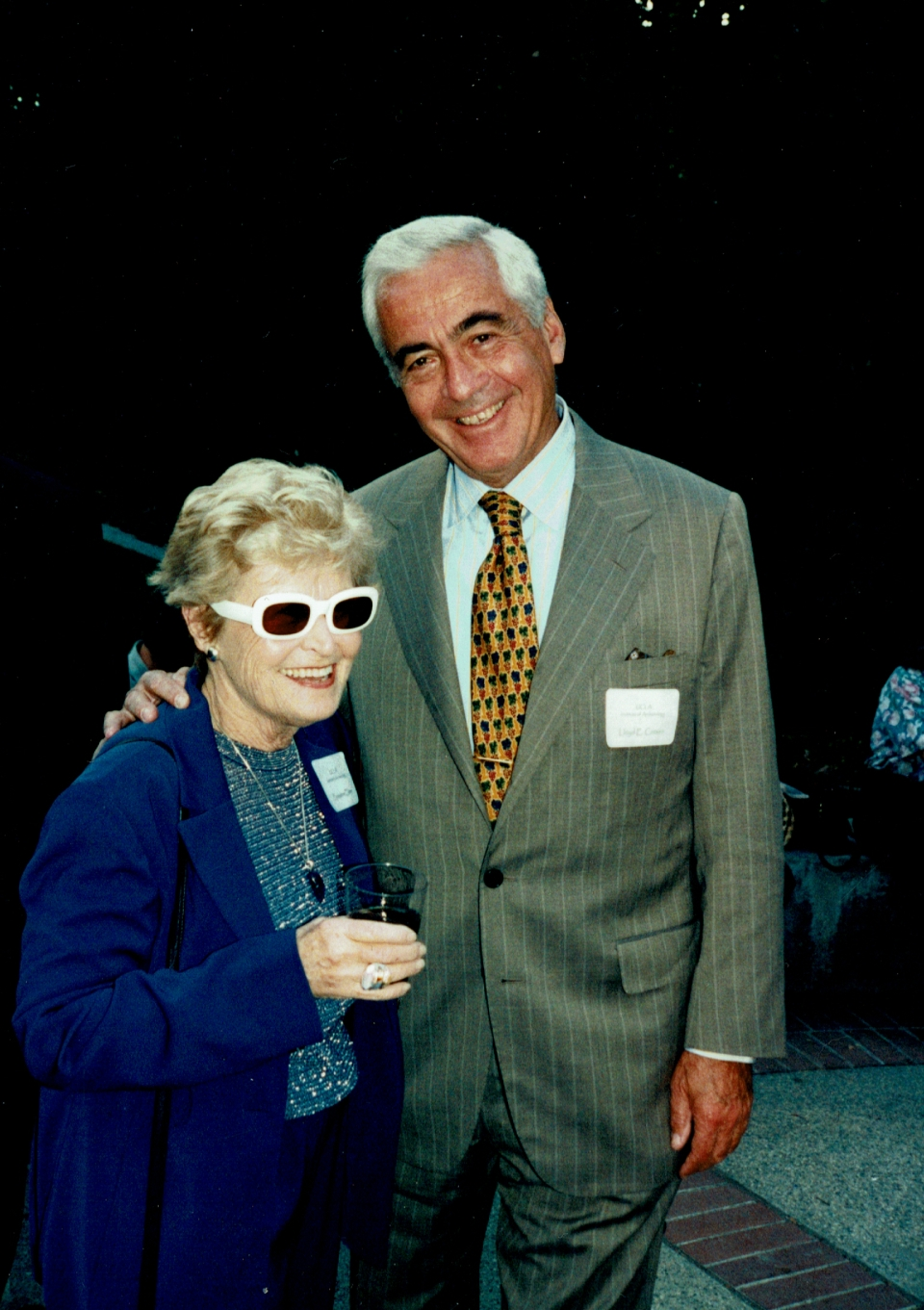 Ernestine Elster with Lloyd E. Cotsen