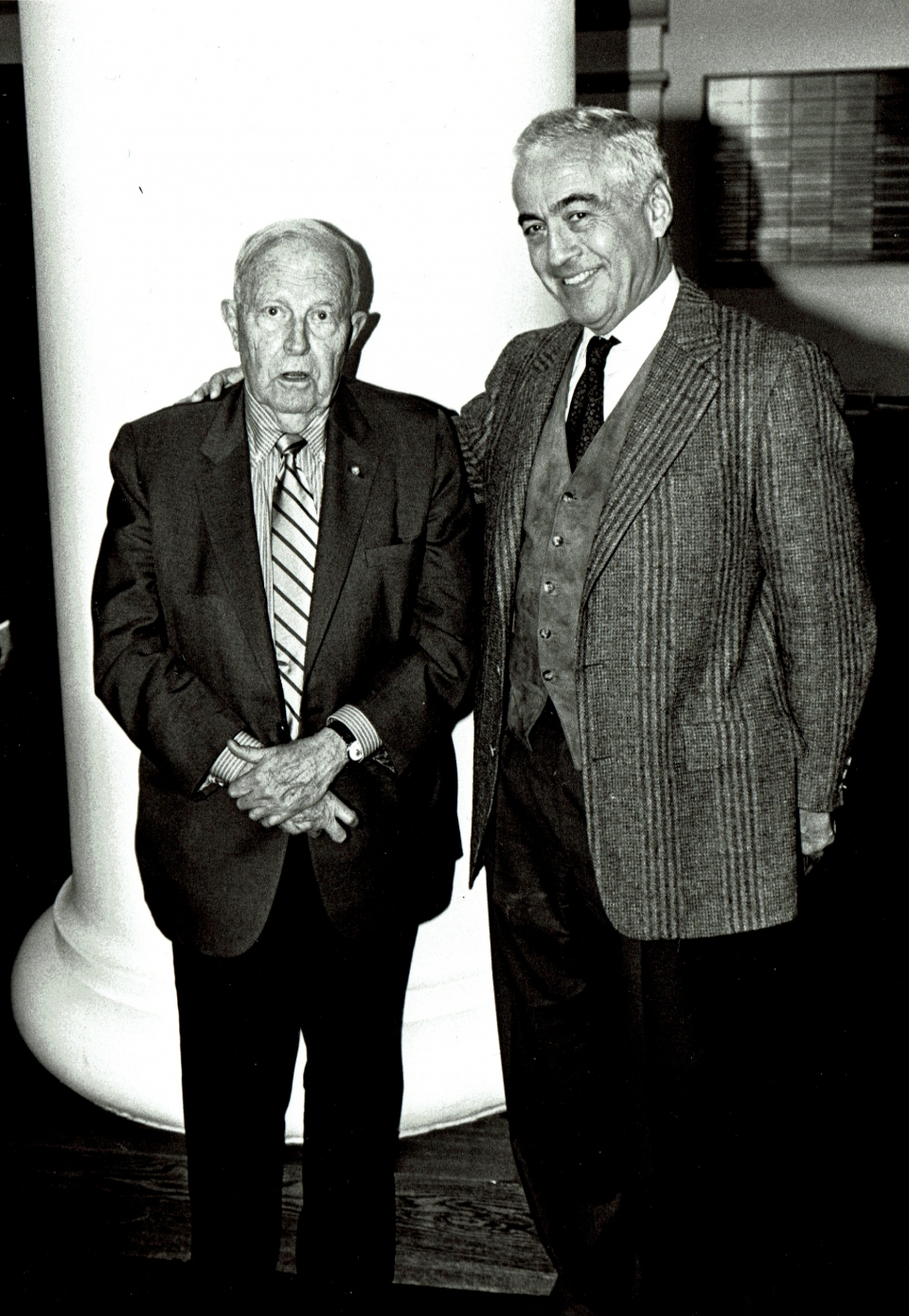 Franklin D. Murphy with Lloyd E. Cotsen