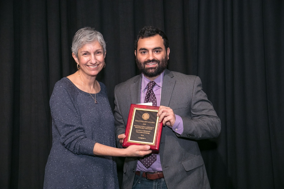 Alan Farahani receives one of the Chancellor's Postdoctoral Scholar Award