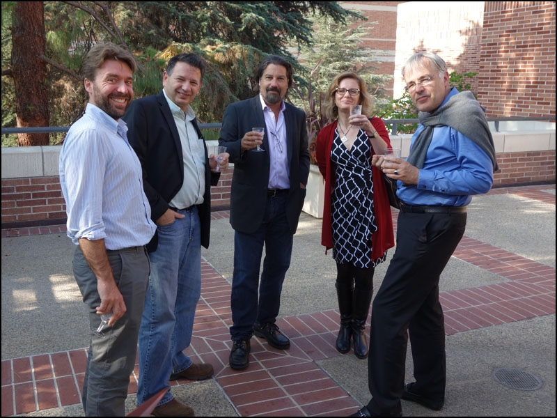 Faculty and staff of the Cotsen Institute joined in the festivities.