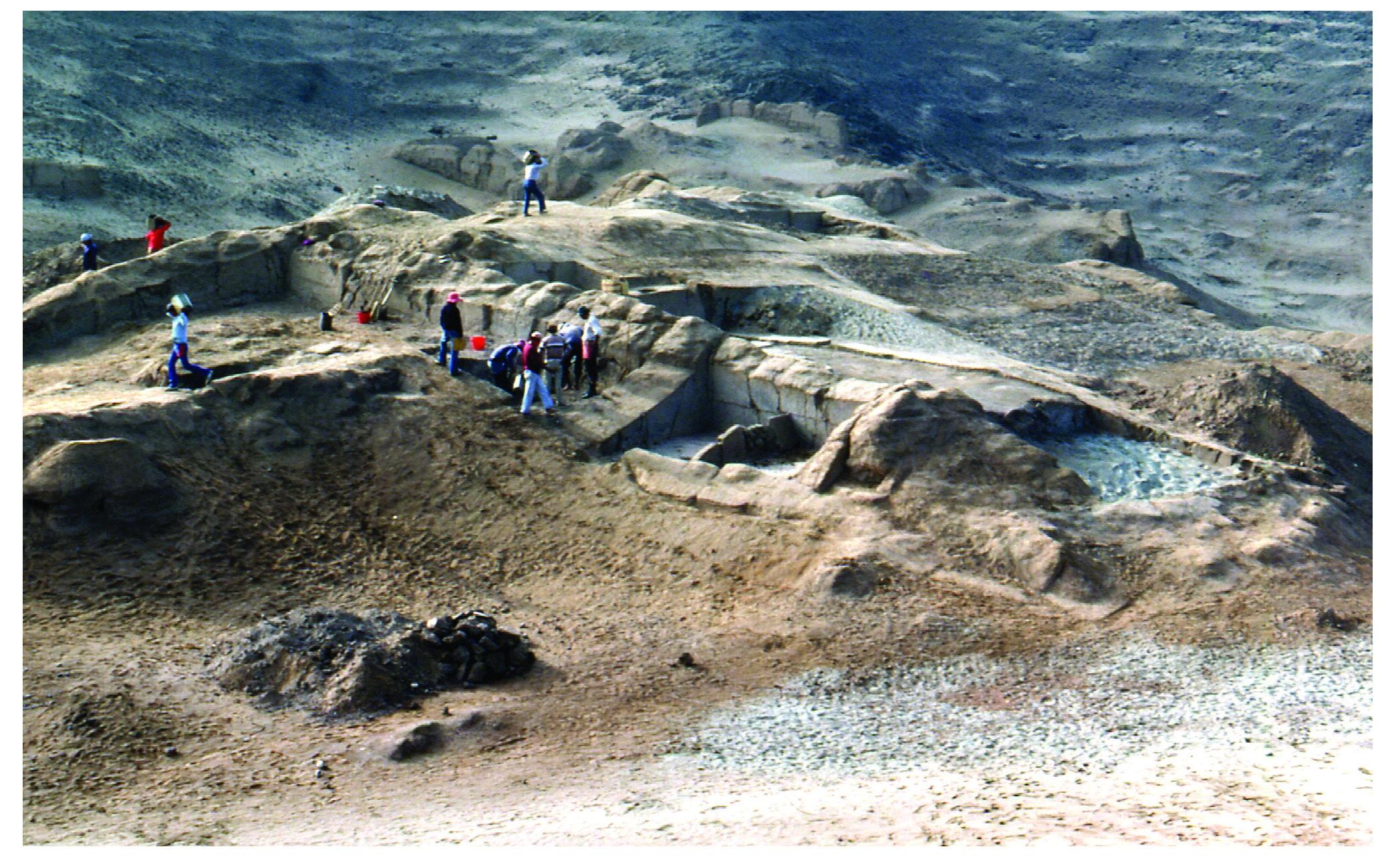 Excavations at Cerro Azul, Peru